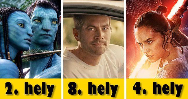 Minden idők 10 legtöbb bevételét hozó mozifilmje