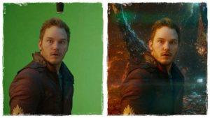 Képkockák CGI alkalmazása előtt és után