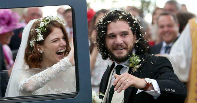 Kit Harington és Rose Leslie összeházasodtak