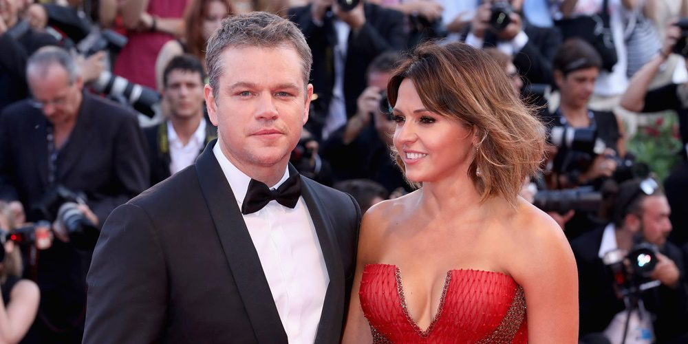 Matt Damon és felesége
