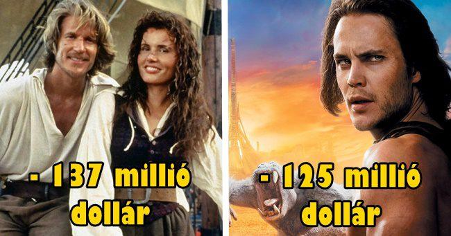 A filmtörténelem 10 legnagyobb filmes buktája