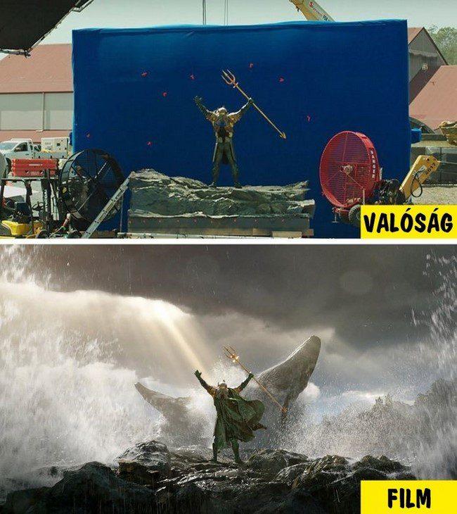 20 szokatlan fotó, amely megmutatja, hogyan néznek ki valójában a filmek, speciális effektek nélkül