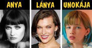 10 híresség dinasztia 3 generációja, akiknek női tagjaik tökéletessé fejlődtek