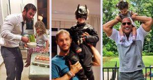12 imádnivaló színész apuka, aki nem tud betelni gyermekével