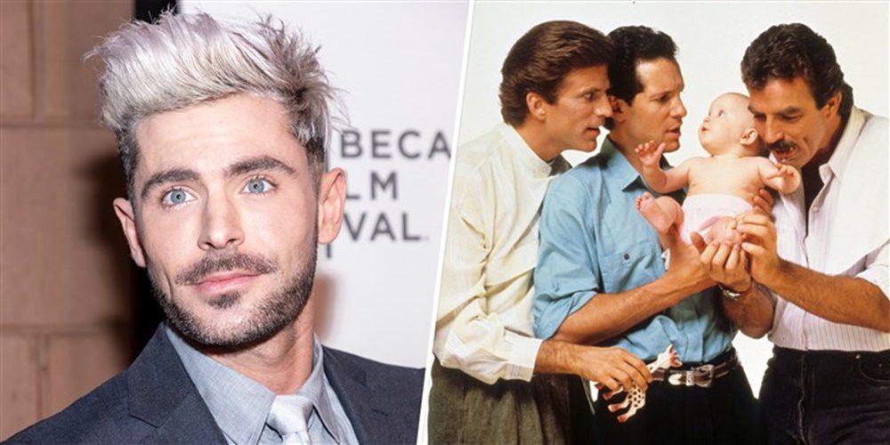 Zac Efron főszereplésével jön a Három férfi és egy bébi remake-je!