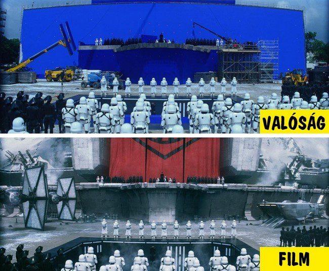18 felvétel, amely megmutatja, hogyan változtak meg a híres filmek a speciális effektek után