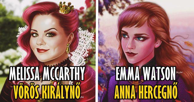 20 illusztráció, ami megmutatja, hogyan néznének ki a hírességek rajzfilmfiguraként