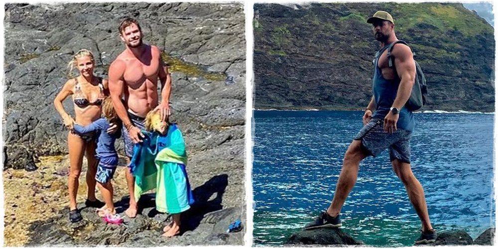 Chris Hemsworth nagyon kigyúrt testtel érkezett meg a Thor 4 forgatására