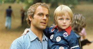 Terence Hill fiára gyerekként emlékszünk, de időközben felnőtt és igen jóképű lett
