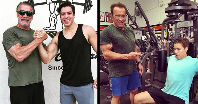 Brutális, ahogy kigyúrta magát Arnold Schwarzenegger eltitkolt fia