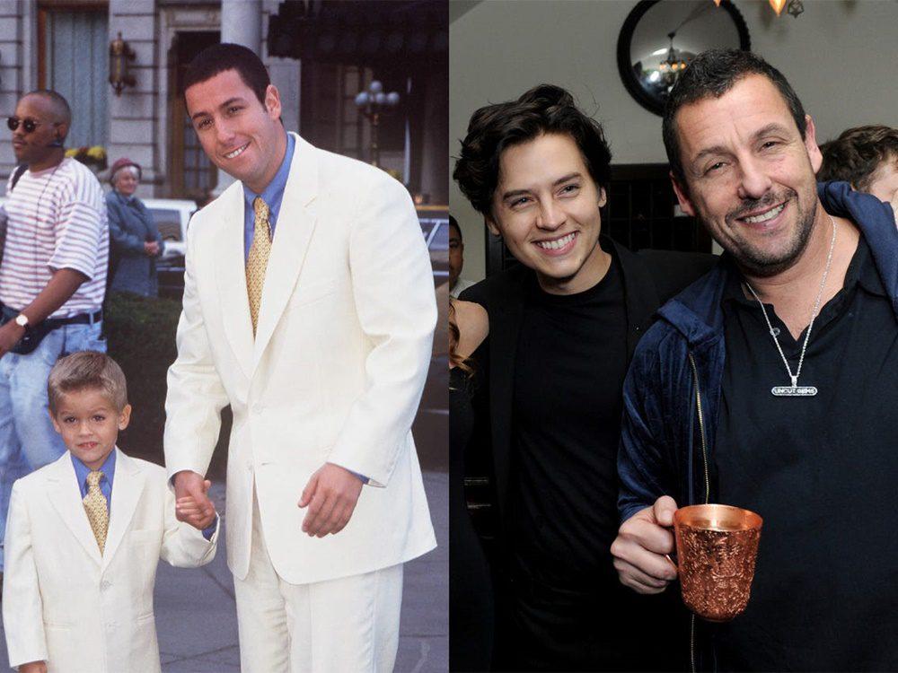 A főszereplőt alakító Adam Sandler oldalán játszó kisfiút a mára felnőtté cseperedett Sprouse-ikrek: Cole és Dylan alakították